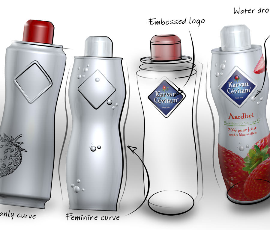 Karvan Cevitam lemonade bottle design by WAACS