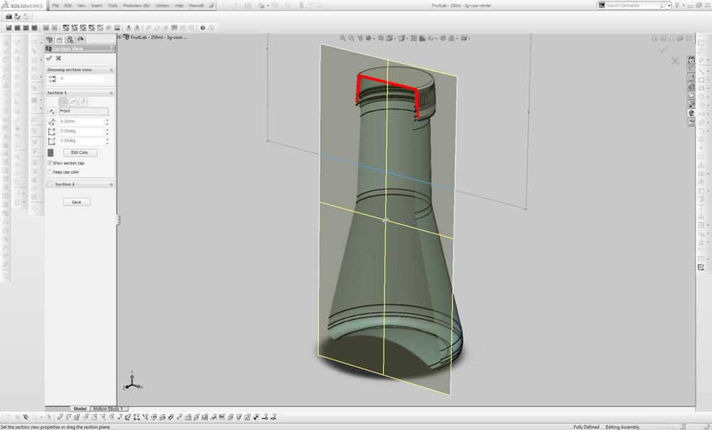 Fruit lab juice bottles design in CAD