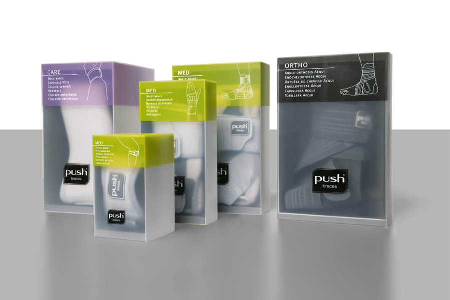 NEA push medical braces packaging