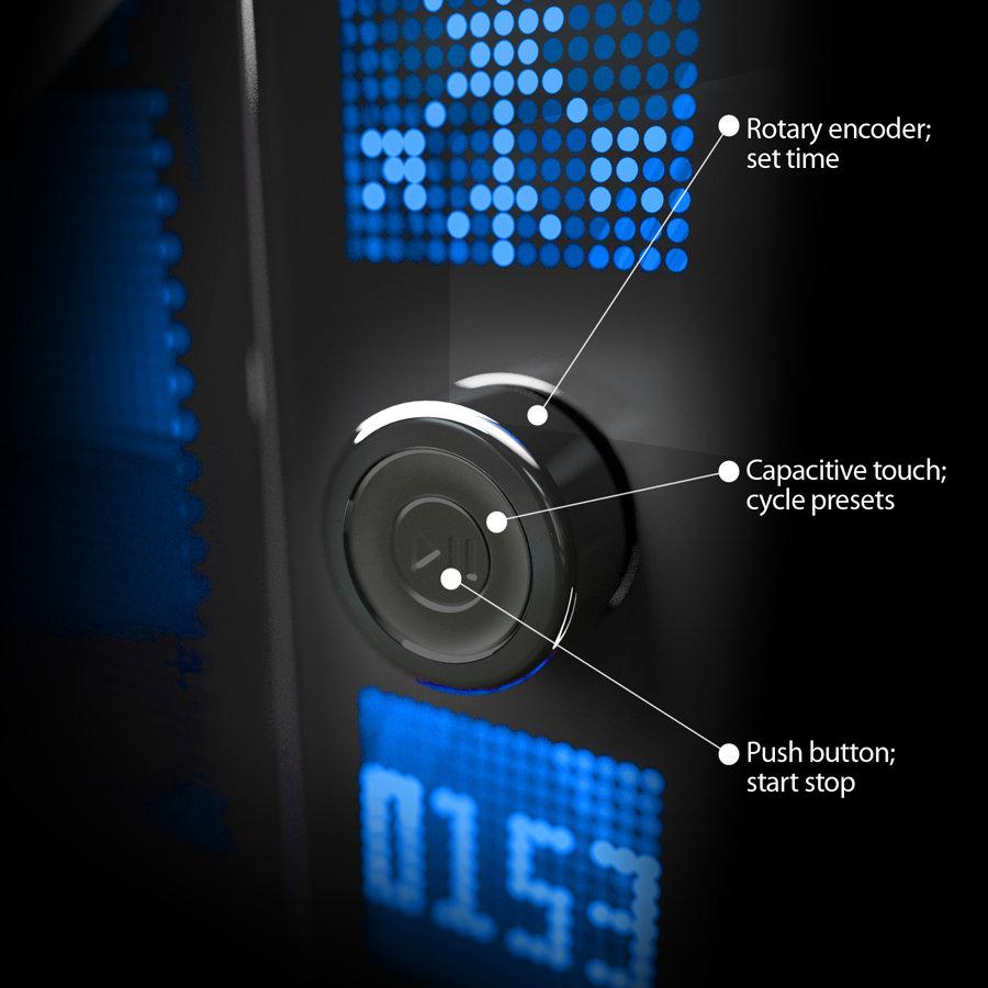 Dot Matrix Microwave Showcase Designed By Waacs