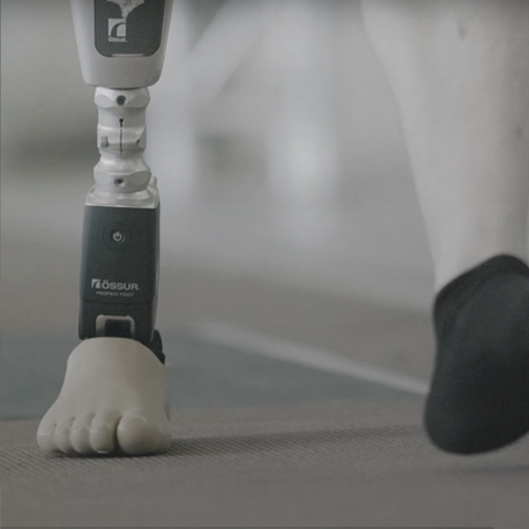 WAACS Össur Bionic Ankle Proprio Foot Walking User