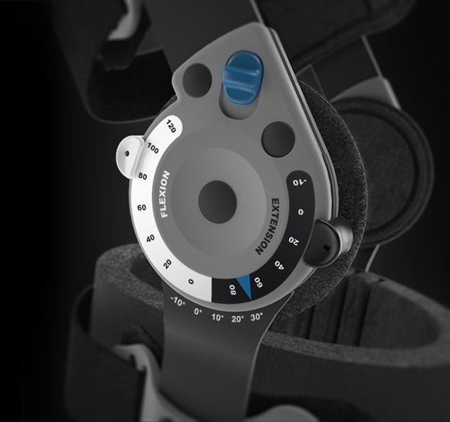 Össur post op knee brace render by WAACS design
